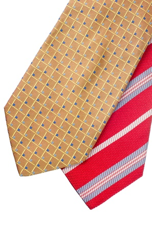 Closeup of two ties isolated on white background. Stock Photo - 15637610