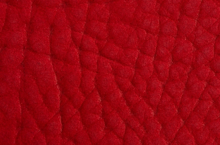 cow hide: Red leather texture closeup detailed background.
