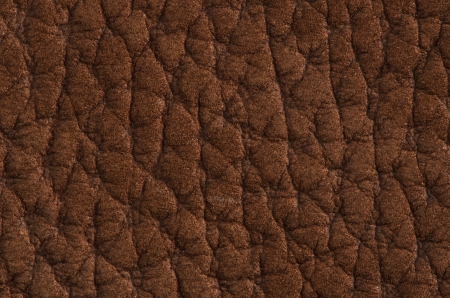Natural brown leather texture. Close up. photo