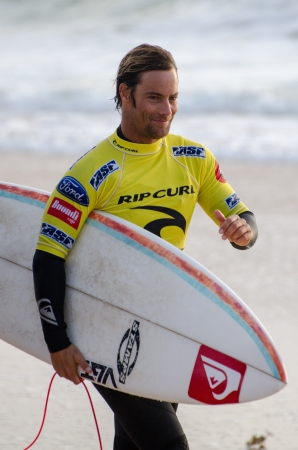PENICHE, PORTUGAL - OCTOBER 14 : Travis Logie (ZAF) during the Rip Curl men's Pro Portugal, October 14, 2012 in Peniche, Portugal