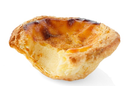 Pastel de nata, typical pastry from Lisbon - Portugal, isolated on white background. Stock Photo - 16901629