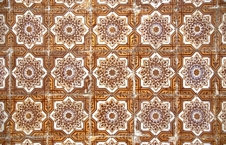 Backgrounds and textures: Intricate ceramic tile design. Stock Photo - 17032856