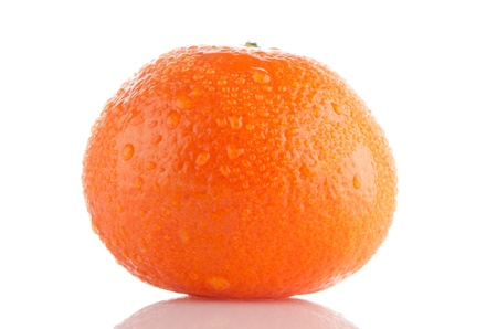 Fresh orange mandarin isolated on a white background. photo