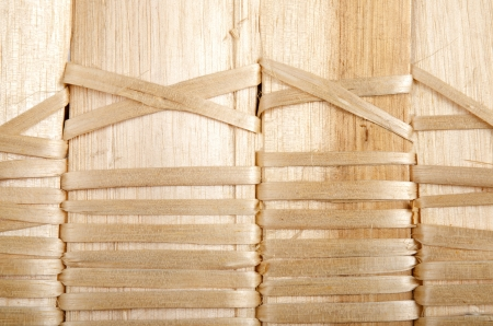 Background of rustic interlaced straw of a handmade craft  photo