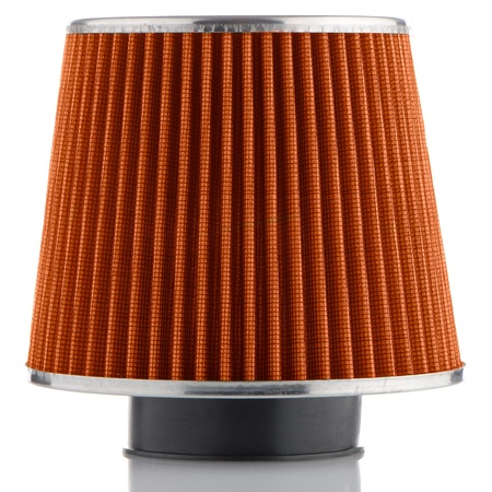 modificaci�n: Air cono de filtro en el fondo blanco. Accesorios para veh�culos modificaci�n.