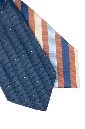 Closeup of two ties isolated on white background  Stock Photo - 18016017