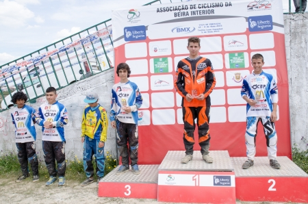 off ramp: CASTELO BRANCO, PORTUGAL - MAY 5: Juvenis podium at the 3rd stage of the Luso-Spanish BMX race Trophy the  on may 5, 2013 in Castelo Branco, Portugal.