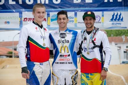 ESTARREJA, PORTUGAL - MAY 26: SX podium at the 2nd Portugal Bmx Open on may 26, 2013 in Estarreja, Portugal. Stock Photo - 19778342