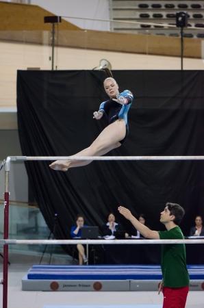 ANADIA, PORTUGAL - JUNE 21: Ekaterina Kislinskaya (POR) during the Art Gymnastics FIG World Cup Challenge on june 21, 2013 in Anadia, Portugal.