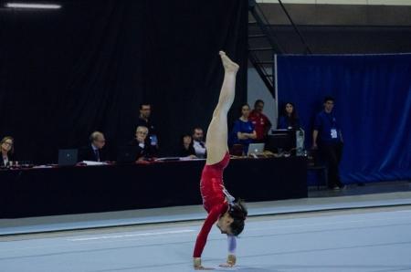 ANADIA, PORTUGAL - JUNE 21: Julie Croket (BEL) during the Art Gymnastics FIG World Cup Challenge on june 21, 2013 in Anadia, Portugal. Editorial