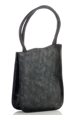 Black woman bag on white reflective background. Stock Photo - 20823061