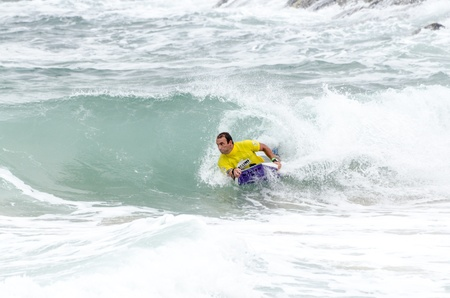 bodyboarding: OVAR, PORTUGAL - AUGUST 15  Bruno Franco at the 2nd Stage of the Bodyboard Protour 2013 on august 15, 2013 in Ovar, Portugal