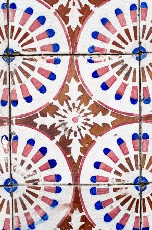 Colorful vintage spanish style ceramic tiles wall decoration. Фото со стока - 22110322