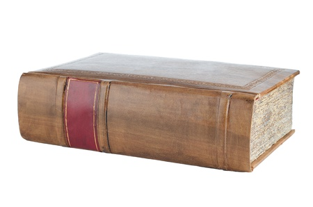 Old book isolated on a white background. photo
