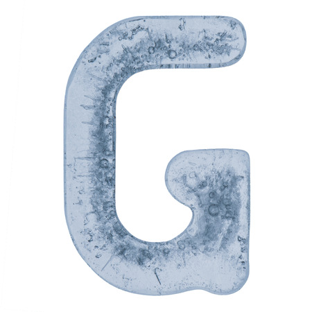 g alphabet: Letter G from an alphabet made out of ice. Stock Photo