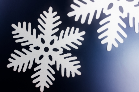 Snowflakes on dark blue background Stock Photo - 22512414