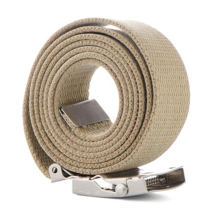 Beige belt on white background.