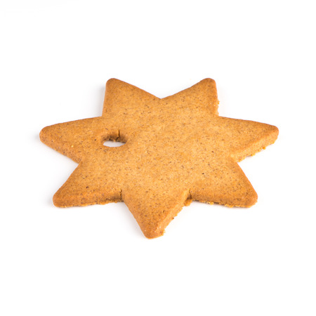 Christmas decoration: star shaped gingerbread photo