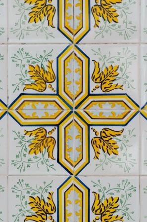 Vintage spanish tiles background. photo