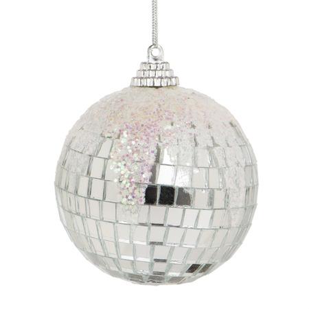 Christmas ball isolated on white background close up  photo