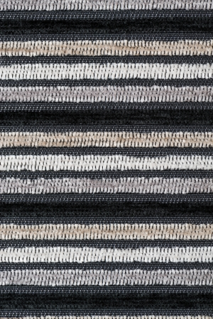 banding: Black and white fabric texture background.
