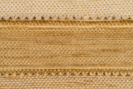 Gold fabric, detailed textile. photo