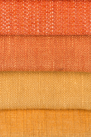 Closeup detail of multi color fabric texture samples  photo