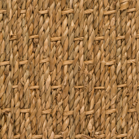 sisal: Closeup detail of a brown sisal carpet texture background. Stock Photo