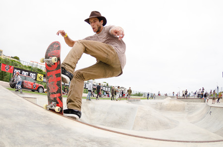 laurence: ERICEIRA, PORTUGAL - MAY 10 2014: Laurence Aragao during the DC King of the Park.