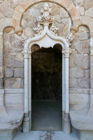 stair well: One of the surprising and enigmatic monuments of Landscape of Sintra,Quinta da Regaleira