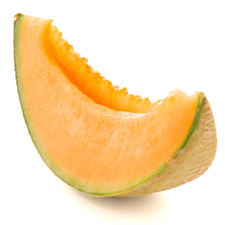 Juicy honeydew melon on a white background. Stok Fotoğraf