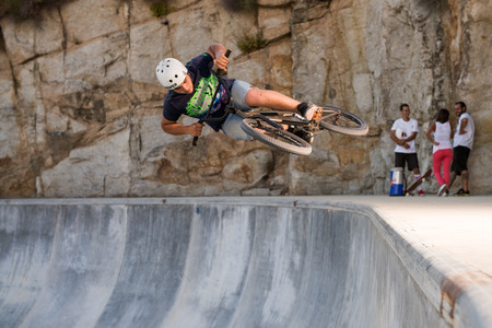 pirana: BELMONTE, PORTUGAL - JULY 12, 2014  Pirana from Spain during the The Lost Bowl Event