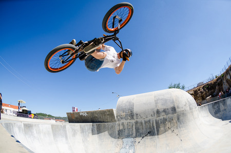 belmonte: BELMONTE, PORTUGAL - JULY 12, 2014  Daniel Penafiel from Spain during the The Lost Bowl Event