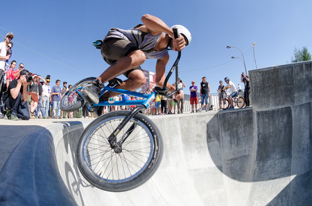 BELMONTE, PORTUGAL - JULY 12, 2014  Miguel Semens from Spain during the The Lost Bowl Event