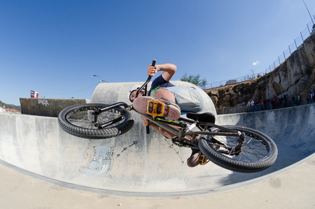BELMONTE, PORTUGAL - JULY 12, 2014  Pirana from Spain during the The Lost Bowl Event