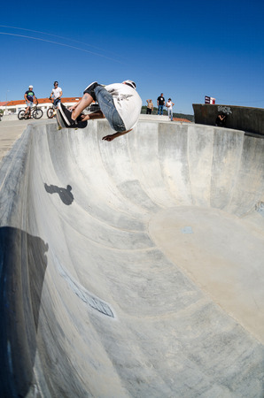 belmonte: BELMONTE, PORTUGAL - JULY 12, 2014  Nuno Cainco during the The Lost Bowl Event