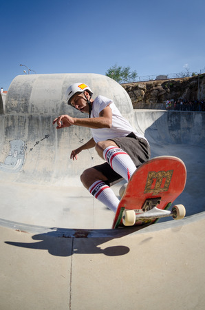belmonte: BELMONTE, PORTUGAL - JULY 12, 2014  Joao Sales during the The Lost Bowl Event