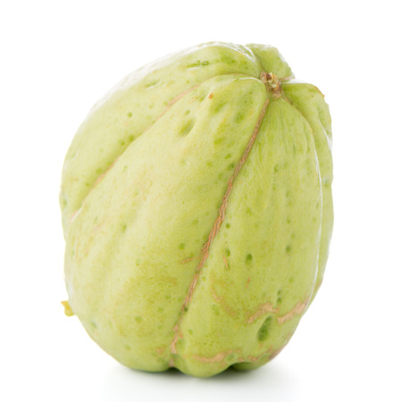 chayote: Chayote also known as chow chow and Chu Chu isolated on white. Stock Photo