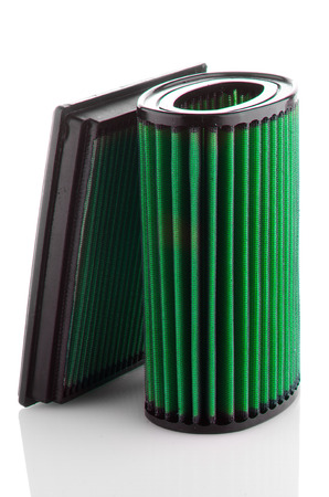 high torque: Air filter on white background. Vehicle Modification Accessories.