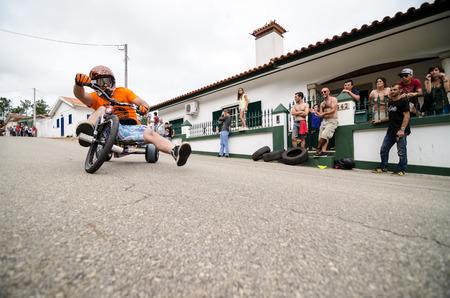 rui: PINHEIRO DA BEMPOSTA, PORTUGAL - AUGUST 10, 2014: Rui Teixeira during the 2nd Newtons Force Festival 2014.
