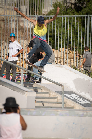 ALBUFEIRA, PORTUGAL - OCTOBER 5, 2014: Daniel Pinto during the 3rd Stage DC Skate Challenge by Fuel TV.