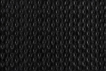 black leather texture: Natural qualitative black leather texture. Close up.