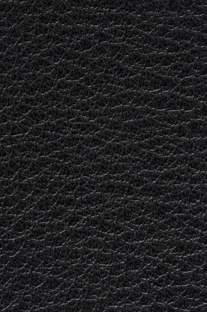 rawhide: Natural qualitative black leather texture. Close up.