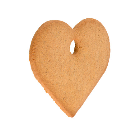Christmas decoration: heart shaped gingerbread photo