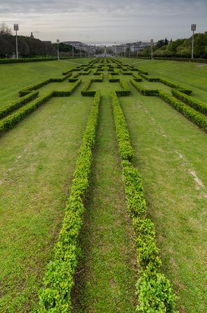 eduardo: Panorama of the Eduardo VII Park in Lisbon, Portugal Stock Photo