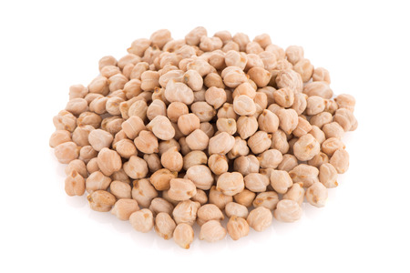 healthful: Chickpeas isoltaed on white background. Stock Photo