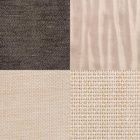 Set braune Stoffmuster, Textur Hintergrund.