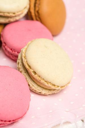 pasteleria francesa: Deliciosos Macarons, galletas de pastelería francesa con crema.