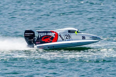 ferdinand: PORTO, PORTUGAL - AUGUST 1, 2015: Ferdinand Zandbergen (NLD) during the U.I.M. F1H2O World Championship in Porto, Portugal.