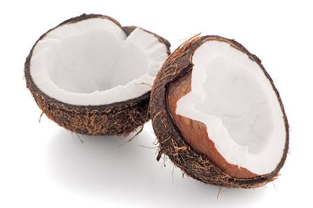 cocotier: Coconut isol� sur blanc. Banque d'images
